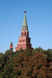 Kremlin tower on sky background Royalty Free Stock Images