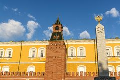 Kremlin towers in Moscow, Russia. Europe royalty free stock photo