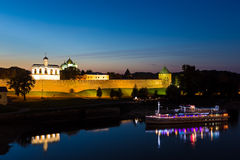 Kremlin town fortress with St. Sophia Cathedral. VELIKIY NOVGOROD, RUSSIA - SEPTEMBER 20: Kremlin town fortress with St. Sophia Cathedral on september 20, 2014 Royalty Free Stock Photography