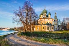 Kremlin in Uglich. Preobrazhensky Cathedral in the Kremlin in Uglich spring Sunny evening Royalty Free Stock Photos