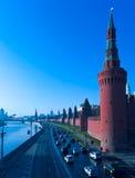 Kremlin-und Moskva Fluss, Moskau, Russland Lizenzfreies Stockbild
