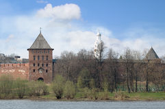 Kremlin of Velikiy Novgorod Royalty Free Stock Photo