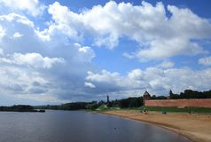 kremlin Velikiy Novgorod Russland Stockfotografie