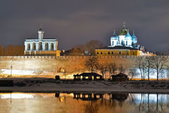 Kremlin in Veliky Novgorod, Russia. Stock Photo