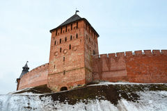 Kremlin in Veliky Novgorod. Royalty Free Stock Photos