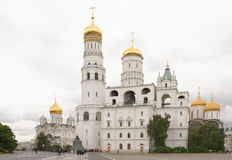 Kremlin.View of the cathedrals.Tourists visiting the sig Stock Photography