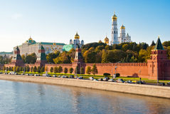 Kremlin view from Moscova, Moscow. Russia Stock Photos