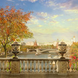 Kremlin view. Moscow. View of the Kremlin from the embankment of the Moscow River stock photography