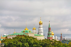 The Kremlin. View from Moscow river Stock Photos