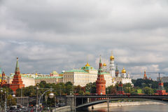 The Kremlin. View from Moscow river Royalty Free Stock Image