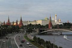 Kremlin. View of the river and the historic center of Moscow Royalty Free Stock Photos