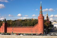 Kremlin wall. Moscow,Russia Royalty Free Stock Photos