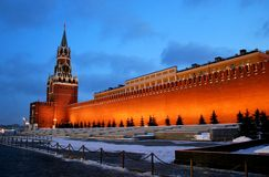 The Kremlin Wall. Some Russian Kremlin wall on the background of a saturated sky Royalty Free Stock Image