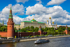 The Kremlin wall stock photo