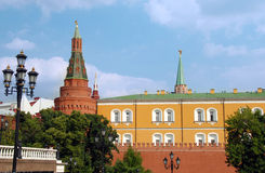 The Kremlin wall with Arsenal tower Royalty Free Stock Photo