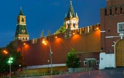 Kremlin Wall in the evening Stock Photo