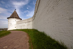 The kremlin wall in Kazan Stock Photo