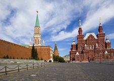 Kremlin wall and Kremlin and  Historical museum on Stock Photography