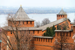Kremlin wall in Nizhny Novgorod, Russia Royalty Free Stock Images