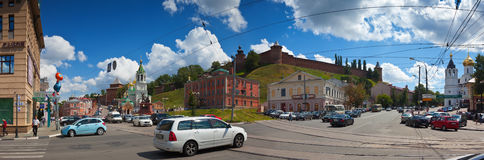 Kremlin wall at Nizhny Novgorod in summer. Russia Stock Photo