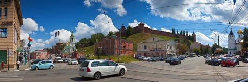 Kremlin wall at Nizhny Novgorod in summer. Russia Stock Photo