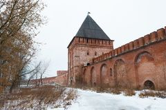 Kremlin wall in Smolensk, Russia Royalty Free Stock Photos
