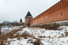 Kremlin wall in Smolensk, Russia Stock Photo