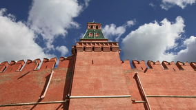 Kremlin Wall that surrounds the Moscow Kremlin, Russia stock footage