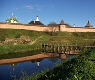 Kremlin wall in Suzdal Royalty Free Stock Images
