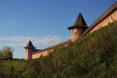 Kremlin wall in Suzdal Royalty Free Stock Photos