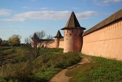 Kremlin wall in Suzdal Stock Image