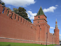 Moscow Kremlin Wall Towers, Russia Royalty Free Stock Photos