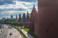 Kremlin wall towers in Moscow. Russia stock photos