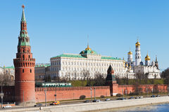 Kremlin wall, towers, palace, cathedrals in Moscow Stock Photography