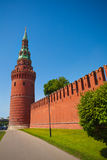Kremlin wall view with tower in summer Royalty Free Stock Photo