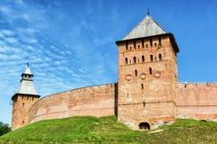 The Kremlin walls in Veliky Novgorod Stock Photos
