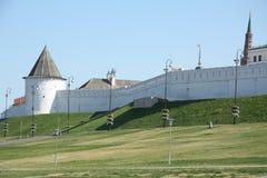 Kremlin-Wand in Kazan Lizenzfreie Stockfotos