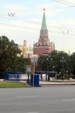 Kremlin wierza Manezh kwadrat moscow równo Fotografia Stock