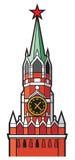 Kremlin wierza z zegarem w Moscow Obraz Stock