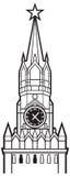Kremlin wierza z zegarem w Moscow Obrazy Royalty Free