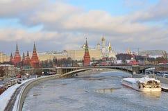 kremlin zima Moscow Zdjęcie Stock