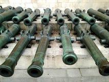 Kremlowscy arsenałów pistolety & x28; cannon& x29; w Moskwa, Rosja Obrazy Royalty Free