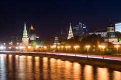 Kremlowski i Kremlowski bulwar Zdjęcie Royalty Free