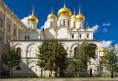 Kremlowskie katedry miasto dzień Kreml Moscow zewnętrznego Obraz Royalty Free