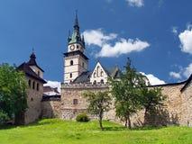 Kremnica城堡的巨型的设防  图库摄影