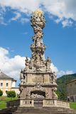 Kremnica - The baroque Holy Trinity column on the Safarikovo square by Dionyz Ignac Staneti 1765 - 1772.  stock photography