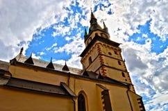 Kremnica. Castle in centrum of Slovakia stock photo