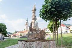 Kremnica market square Royalty Free Stock Photo