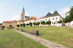 Kremnica market square. The market square in Kremnica, Slovakia stock photos