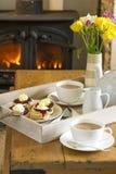 kremowa cornish herbaty Zdjęcia Royalty Free